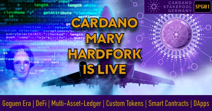 cardano stakepool deutschland mary hardfork is live
